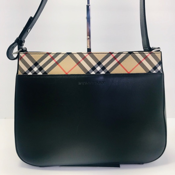Burberry Bags   Authentic London Black Leather Hobo Bag   Poshmark 2bb26648f8